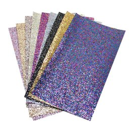 Glitter Fabric Wholesale UK - David accessories 20 34cm glitter synthetic  leather fabric cut direction 2688d3ae2db4