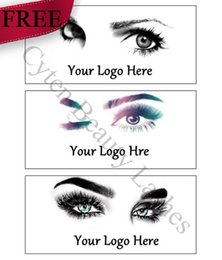 Wholesale Logotipo e Desenhos para Private Sticker Label (Usado para Pretty Lashes Natural 3D Mink Cílios Falsos Cílios 100 Estilos)
