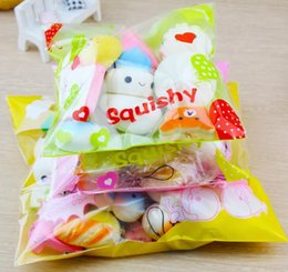 strawberry pack 2018 - 10pcs pack Squishies Slow Rising Squishy random sweetmeats ice cream cake bread Strawberry Bread Charm Phone Straps Soft