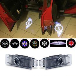 $enCountryForm.capitalKeyWord NZ - 2pcs Car Door Welcome Lights Projector Logo LED For  Mini Cooper R55 R57 R58 R59 R60 Clubman Countryman S JCW F54 F55 F56 F57