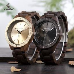 Watches Ceramic Wrist Bands NZ - asculinos relogios BOBO BIRD New Designer Wooden Band Mens Watches Natural Handmade Quartz Wrist Wood Wristwatches Gifts relogio masculin...