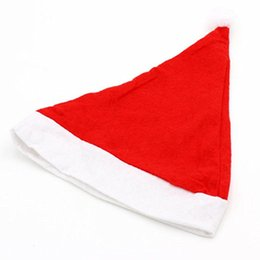 nonwoven hats Australia - Party Caps Santa Claus Hats Nonwoven Fabric Cap Party Hats for Santa Claus Costume Christmas Decoration for Kids Adult Christmas Hat