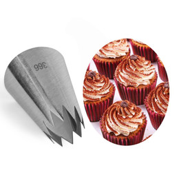 Icing Piping Cupcakes Australia - Large Ice Cream Nozzles Pastry Cake Decorating Tools Icing Piping Nozzle Tips Cupcakes Baking Bakeware Pastry Making