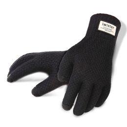 $enCountryForm.capitalKeyWord UK - Men Knitted Gloves Winter Touch Screen High Quality Male Thicken Warm Wool Cashmere Solid Gloves Men Mitten Business Autumn