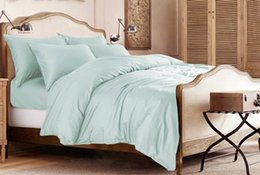 King Size Bedding Sets Color Canada - 100% Egyptian cotton 1600 TC bedding set Sweden King size white color 5 pieces bedding flat sheets customize