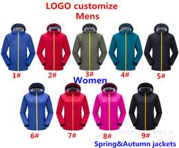 Marke Männer und Frauen Outdoor Jacken Winddicht wasserdicht SpringAutumn Sport Jacken Damen Mantel Sweatshirt Hoodie Langarm Hoodies