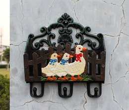 $enCountryForm.capitalKeyWord Canada - Country Cast Iron Mail Letter Magazine Newspaper Key Rack Holder Hook 3 Ducks Office Home Organizer Storage Wall Mount Painted Vintage Craft