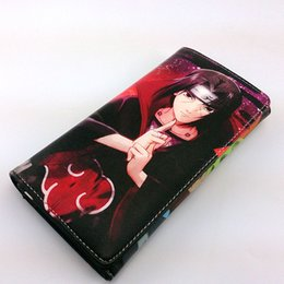 cartoon miku Australia - Naruto Cosplay Leather Purse Long Button Style Wallet Hatsune Miku Card Holder Money Bag for Gift