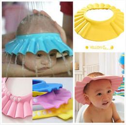 Baby Wash Hair Australia - Baby Shower Cap shampoo shower caps bathing hats Children Shampoo Bath Wash Hair Shield Hat Bathing Bebes