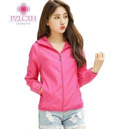 Discount korean summer clothing - PZLCXH Summer New Sun Protection Clothing Women Short Jacket Korean Long Sleeve Breathable Clothes Spring jaqueta femini
