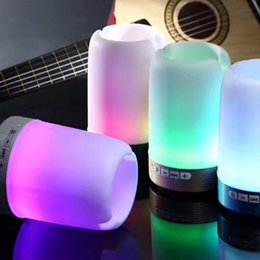 Small portable computerS online shopping - Wireless Bluetooth speaker pen holder phone bracket speaker card U disk with colorful lights mini portable small sound Q6