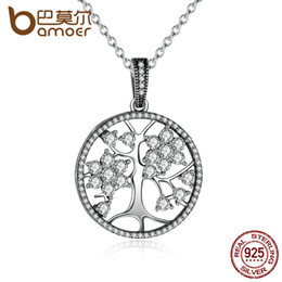 Sterling Tree Pendant NZ - The Christmas DEALS Classic 925 Sterling Silver Tree of Life Round Pendant Necklaces for Women Fine Jewelry
