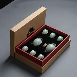 $enCountryForm.capitalKeyWord Canada - Chinese Travel Kung Fu Tea Set Ceramic Portable Teacup Porcelain Service Gaiwan Tea Cups Mug of Tea Ceremony Teapot With Gift Box
