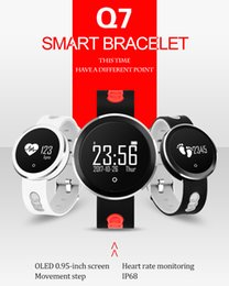 $enCountryForm.capitalKeyWord Canada - New Smart band Q7 round smart fitness watch bracelet tracker with Health Sleep Blood Pressure Monitoring Wrist waterproof IP68 high quality