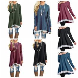 db168ca229ec Batwing dolman lace long sleeve online shopping - Women Long Sleeve Loose  Shirt Dress Print Tunic