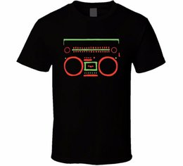 Music Man T Shirt Canada - A Tribe Called Quest Boombox Logo 90S Rap Hip Hop Music Tshirt Fashion Short Sleeved T-Shirt For Men Summer Funny Tee Shirt