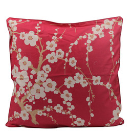 cushion cover black bird UK - wholesale High Quality Cushion Cover Decorative Pillows Floral Throw Pillow Cover 100% Cotton Satin Pillowcase Kussenhoes Bird Leaf 45*45