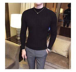 Wholesale man christmas sweaters resale online – Brand Men Male Casual Sweater Men Solid Color Comfortable Mens Christmas Sweater Round Neck Slim Fit Pull Homme