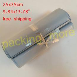 $enCountryForm.capitalKeyWord Australia - 25X35CM 100PCS White Poly Self-seal Mailbags Plastic Courier Destructive Poly Mailing Plastic Bags Express Mail Bag