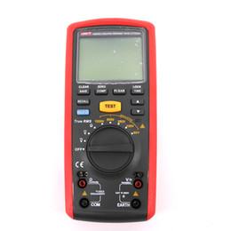 Venta al por mayor de Hasta 20Gohm Probador de resistencia de aislamiento de mano UT505A Prueba remota eléctrica CA / CC 600V 20Gogm Megger Tramegger