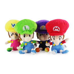 "China Hot Sale 4 Styles 6"" 15cm Mario Waluigi Luigi Wario Baby Super Mario Bros Plush Stuffed Doll Toy For Kids Best Holiday Gifts cheap figure hot toy suppliers"