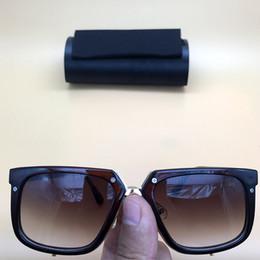 5b3433c0d7 Plank Square 001 Amber Vintage Gafas de sol de lujo Marrón Marco Cuadrado  Leyendas Anteojos Plastic Full Rim Hombres Mujeres Alemania Eyewear 643