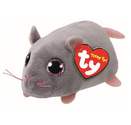 """Big Stuffed Mouse UK - 4"""" 10cm Miko Mouse Stackable Plush Soft Stuffed Animal Collectible Big Eyes Doll Toy"""