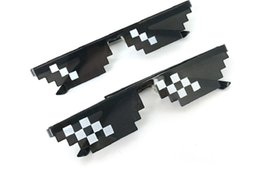 toy goggles 2018 - funny children kids adult Goggles Glasses Thug Life 8-Bit MLG Pixelated Sunglasses for Minecraft players discount toy go