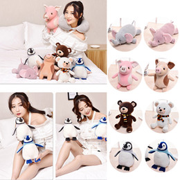 Animal Travel Pillows NZ - Creative Travel Pillow Neck U-shaped Pillow Transformation Into Catoon Animal Plush Doll Toy Multifunctional Rest