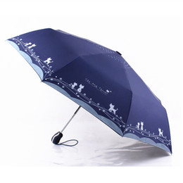 $enCountryForm.capitalKeyWord NZ - Cute Cat Automatic Parasol 3-fold Umbrella Rain Sun Women Windproof Plegable Sombrilla Paraguas Mujer Parapluie Women Fashion