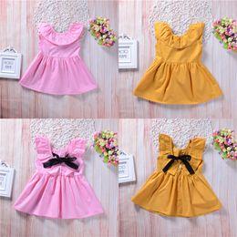 c8d3c9abcaf3 Sleeveless Children Bowknot Dress Summer Canada