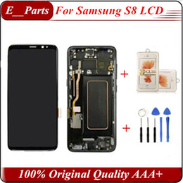 (100% оригинал) для Samsung S8 ЖК-дисплей с рамкой Замена для SAMSUNG Galaxy S8 G950 G950F Дисплей S8 Plus G955 G955F Сенсорный экран планшета на Распродаже