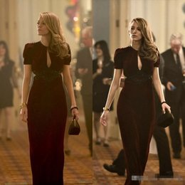 beautiful sexy short party dresses NZ - Beautiful Blake Lively Dresses Age of Adaline Film Sheath Sexy V Neck Short Sleeve Keyhole Neck 2016 Long Formal Dresses Party Evening Gowns