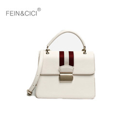 $enCountryForm.capitalKeyWord NZ - white bag red striped box handbag 2018 fall winter new luxury fashion flap totes messenger cross body bag wholesale drop ship