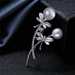 south korean clothes 2018 - Brooch South Korean Graceful High-End Dragonfly Brooch Hand-Made Pin Korean Fashion Dress Brooches Pin Jewel Clothing Ac
