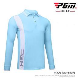 $enCountryForm.capitalKeyWord Australia - PGM New Golf Sportswear Autumn long sleeve Golf POLO Shirt Men's Outdoor Sports Windproof Keep Warm Quick Dry T-shirt