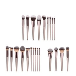 Wholesale 4 set Makeup Brushes Set champaign gold Cosmetic Brush Powder Foundation Make Up Brush Set The Best Quality T04024