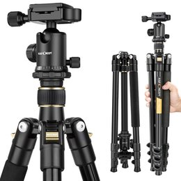 Wholesale K F Concept TM2324 lightweight Portable Professional Travel Camera Tripod aluminum Ball Head compact for digital SLR DSLR camera