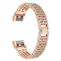 $enCountryForm.capitalKeyWord UK - For Fitbit Charge 2 HR Bands,Metal Stainless Replacement with Crystal Rhinestone Adjustable Jewelry Diamond Strap Bracelet Watch Band for Fi