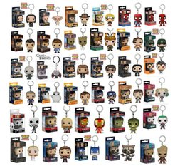 Wholesale Funko Pop Keychain Action Figures Anime Collection Doll kids Toys Movie Anime Key chain Keyring Kid Toy design KKA5030