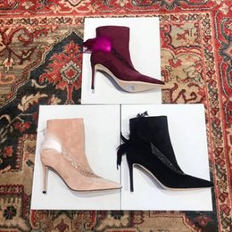 2801e1cccd63a 2018 New Sexy High-heeled side zipper shoes