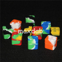 $enCountryForm.capitalKeyWord NZ - 20pcs Small Waxmate Containers Silicone Rubber Containers Silicon Storage Square Wax Jars Dabber Oil Holder Waxmate Rubber Wax Container
