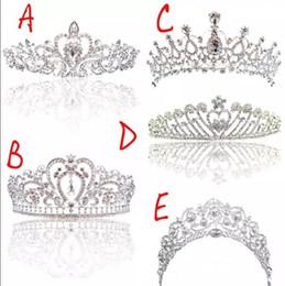 Veil crowns online shopping - Shining Beaded Crystals Wedding Crowns Bridal Crystal Veil Tiara Crown Headband Hair Accessories Party Wedding Tiara CPA793
