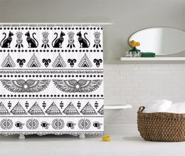 Pattern Decor Australia - High Quality Arts Shower Curtains Egyptian Decor Tribal Ethnic Art Pattern With Egypt Symbols Bathroom Decorative Modern curtain