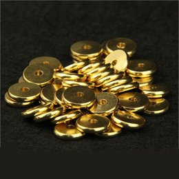 wholesale spacer beads Australia - Original Brass Round Flat Metal Spacer Beads Fit Bracelet Necklace Spacer Ring DIY Jewelry Findings 50pcs 4 5 6 7 8 10 12mm