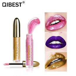 Lip qibest online shopping - Qibest New Party Star Pearls Glitter Lip Gloss Lasting Cosmetics Glass Metal Lipgloss Shimmer Liquid Lipstick Beauty Lips Makeup