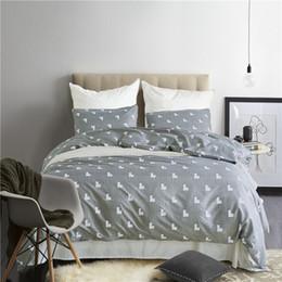 $enCountryForm.capitalKeyWord Australia - Simple White Love Pattern 2 3Pcs Home Textiles Stylish Bedding Sets Contain Duvet Cover Set Pillowcase USA Twin Queen King Size