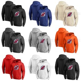 China Custom New Jersey Devils Hoodie Jerseys Pullover Hoodie Any Name Number Blank Stitched Hockey Hooded Sweatshirt cheap blank hockey hoodie suppliers