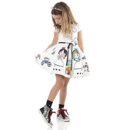 $enCountryForm.capitalKeyWord NZ - Girls Summer Dress Kids Clothes 2018 Brand Baby Girl Dress with Sashes Robe Fille Character Princess Dress Children Clothing Y1892113
