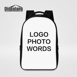 backpacks for college men Australia - Customize Your Own Design Laptop Backpack Large Capacity School Bags For College Students Women Men Personalized Printing Bagpacks Rucksack